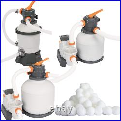 Bestway Sand Filter Pool Pump for Above Ground Swimming Pool/800/1500/2200Gal