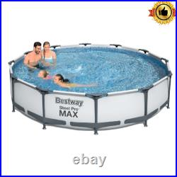 Bestway Steel Pro Max 12ftx30 Pool Set Outdoor Swimming Heavy-Duty Above Ground