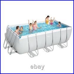 Bestway Swimmimg Pool Power Steel Above Ground Rectangular 412x201x122 cm