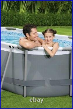 Bestway Swimming Frame Pool Above Ground 305x200x84 cm BESTWAY 5614A + PUMP