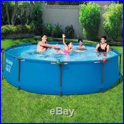 Bestway Swimming Pool Frame 305cm Above Ground Garden Outdoor Water Centre