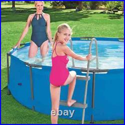 Bestway Swimming Pool Ladder Flowclear Above Ground Step Stairs Multi Sizes
