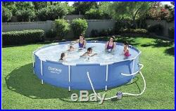 Bestway Swimming Pool Round 366x76cm Steel Frame with Mesh Above Ground 56415