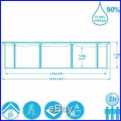 Bestway above ground swimming pool plate 460x120cm+pump filter ladder tarpaulin