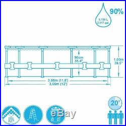 Bestway above ground swimming pool steel 366x100cm+pump filter and ladder 56418