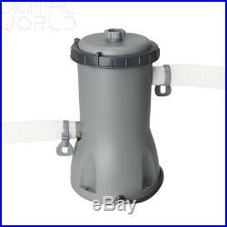 Bestway above ground swimming pool steel 488x305x107cm+pump filter cartridge