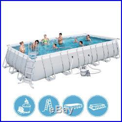 Bestway above ground swimming pool steel 732x366x132cm + pump sand ladder 56475