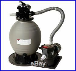 Blue Wave 18in. Sand Filter System with 3600 GPH 1 HP Pump for Above Ground Pools