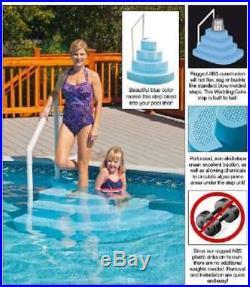 Blue Wave Wedding Cake Above Ground Pool Step Blue Swimming Pool