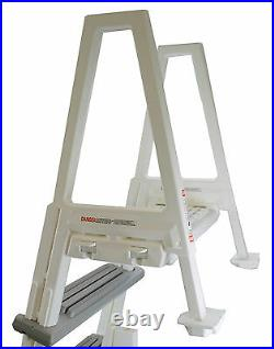 CONFER 6000X Heavy Duty Aboveground In-Pool Swimming Pool Ladder 48-54 + Pad