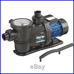 Clarke SPP10 1 HP 750W Swimming Pool Pump Max flow 366 l/min head 15m 230V