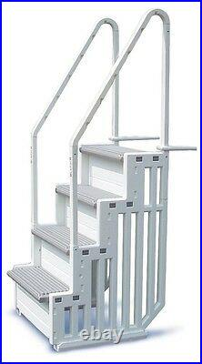 Confer Pool Steps Above Ground Swimming Access Ladder Stairs Deck Entry System