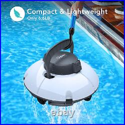 Cordless Automatic Pool Cleaner Vacuum Strong Suction Robotic In Ground Above