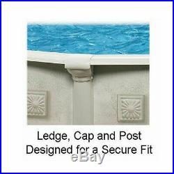 #Cornelius Pools Khaki Venetian 18' x 52 Outdoor Above Ground Swimming Pool