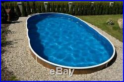 DELUXE SWIMMING POOL KIT 24x12ft OVAL, ABOVE OR IN GROUND, STEEL (SALE OFFER)