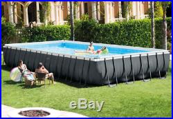 Extra Large Swimming Pool Above Ground Steel Family Garden Party Outdoor Kit Set