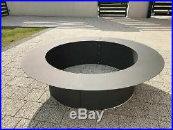 Fireplace Ring Outdoor Above or In-Ground Fire Pit Rim Garden Outdoor Patio
