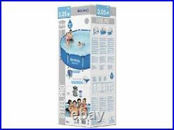 Frame Swimming Pool 10FT x 30 Garden Above Ground Pool Pump Round Bestway 56679
