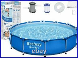 Frame Swimming Pool 12FT x 30 Garden Above Ground Pool Pump Round Bestway 56681