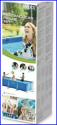 GARDEN SWIMMING POOL 4.5m x 2.2m x 0.84m 14.7FT Frame Above Ground Pool