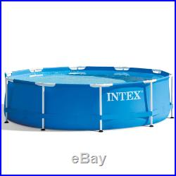 Garden Family Above Ground Swimming Pool Round Frame Outdoor