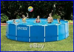 INTEX 15ft X 48in METAL FRAME ABOVE GROUND SWIM POOL SET BRAND NEW FREE SHIP