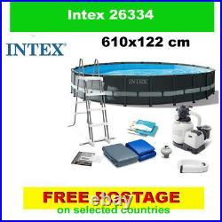 INTEX 26334 swimming pool Above Ground Pool + PUMP 610x122 cm