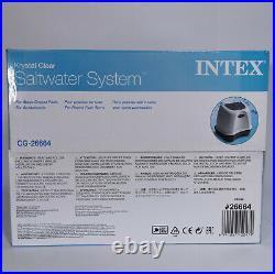 INTEX 26664 Krystal Clear Saltwater System up to 17000L / 4500gal pool 220V NEW