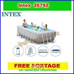 INTEX 26792 Prism Frame Above Ground Pool Rectangular 488x244x107cm