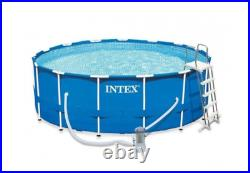 INTEX 28242 Round Pool 457 x 122 cm 15ft x 48in Metal Frame Above Ground Pump