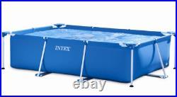 INTEX Metal Frame Steel Rectangular Above Ground Swimming Pool 22015060cm