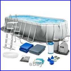 INTEX Prism 26798 20FT x 10FT Above Ground Swimming Pool 610x305x122cm+ EXTRAS