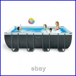 INTEX Rectangular 18ft x 9ft x 52-Inch-Deep XTR Above Ground Swimming Pool