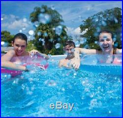 INTEX Round Metal Frame Above Ground Family Swimming Pool Set Pond 30576cm