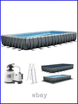 INTEX ULTRA XTR 24ft x 12ft x 52 ABOVE GROUND SWIMMING POOL WITH SAND FILTER