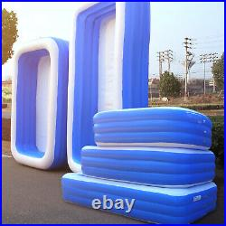 Inflatable Swimming Pool Garden Outdoor Family Kiddie Pools Above-Ground Pool