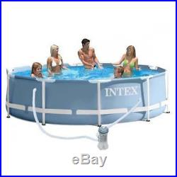 Intex 10ft x 30 Deep Round Prism Frame Above Ground Swimming Pool #26702