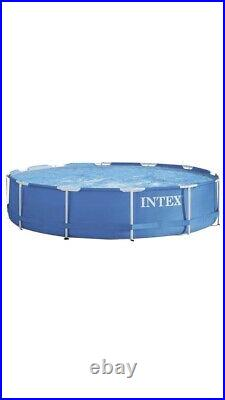 Intex 12ft Metal Frame Above Ground Swimming Pool + Accessories + Cover