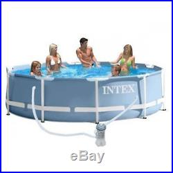 Intex 12ft x 30 Deep Round Prism Frame Above Ground Swimming Pool #26712