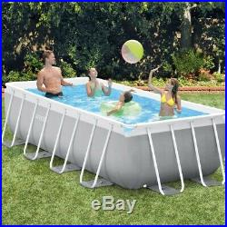 Intex 13ft 1x6ft 7x39.5 Prism Frame Rectangular Swimming Pool & Pump (26788)