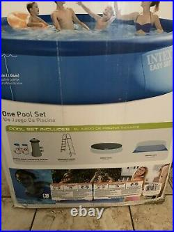 Intex 15' x 48 Inflatable Easy Set Above Ground Swimming Pool with Ladder & Pump