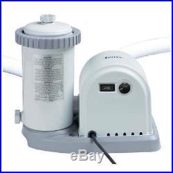 Intex 1500 GPH Cartridge Filter Pump For Swimming Pool #28636