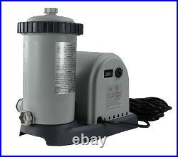 Intex 1500 GPH Pool Filter Pump & Intex Type A or C Filter Cartridges (2 Pack)