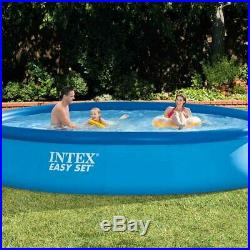 Intex 15ft x 33 Easy Set Round Above Ground Swimming Pool & Filter Pump (28158)