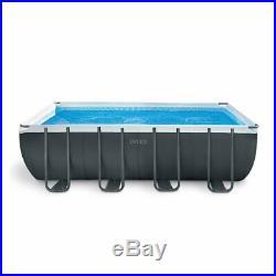 Intex 18ft x 9ft x 52 Ultra XTR Frame Rectangular Above Ground Swimming Pool wi