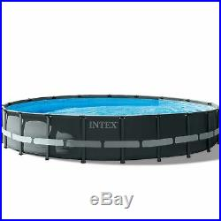 Intex 20ft x 48 Ultra XTR Frame Round Above Ground Swimming Pool with Sand Pump
