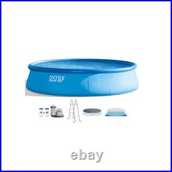 Intex 26175EH 18' x 48 Inflatable Round Outdoor Above Ground Swimming Pool Set