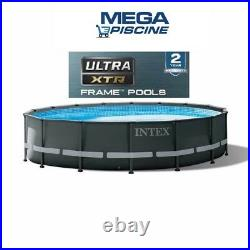 Intex 26326 Swimming pool UltraXTR 16ft 488cm Round 48 Deep Frame Above Ground