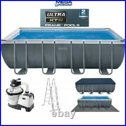 Intex 26356 18ft x 9ft x 52 Ultra Frame Above Ground Swimming Pool Sand Pump