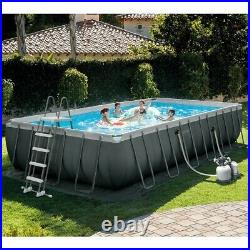 Intex 26368 24Ft Above Ground swimming pool + SALTWATER system +ground mat+cover